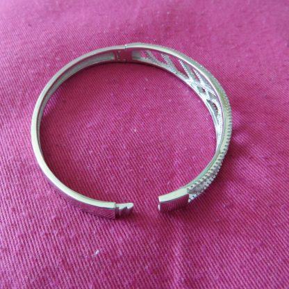 bracelet argent motifs oxydes blancs