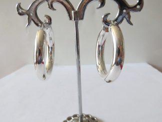 Boucle oreille créole argent 25mm