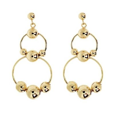 boucle oreille double creole pl or