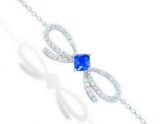 bracelet argent noeud saphir