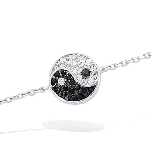 bracelet argent Ying Yang