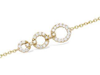 bracelet triple anneau plaqué or