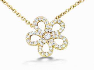 collier fleur pl or