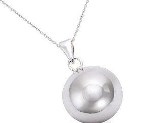pendentif boule argent 16mm