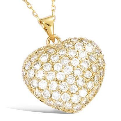 pendentif plaqué or coeur bombé
