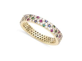 bague pierre multi color pl or