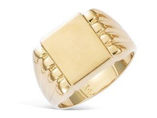 bague chevalière plaqué or