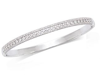 bracelet jonc argent oxydes blancs