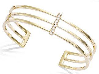 Bracelet jonc or triple rangs