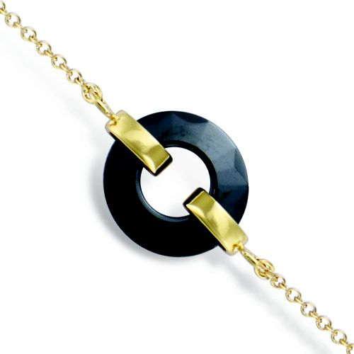 Bracelet or céramique noir