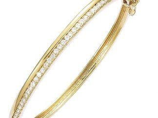 bracelet demi pavé plaqué or