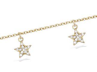 Bracelet or pampilles étoiles