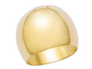 bague bombé lisse pl or