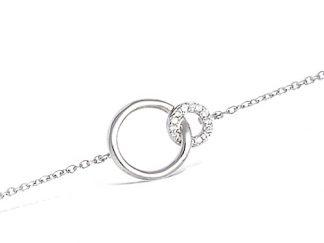 bracelet deux cercle argent