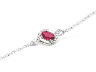 bracelet rubis argent