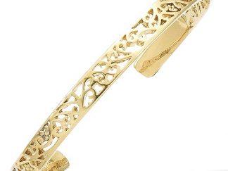 bracelet jonc ouvert plaqué or