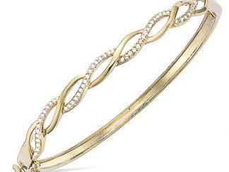 bracelet jonc tresse plaqué or