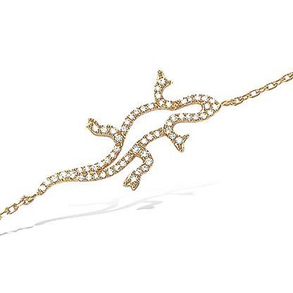 bracelet salamandre plaqué or