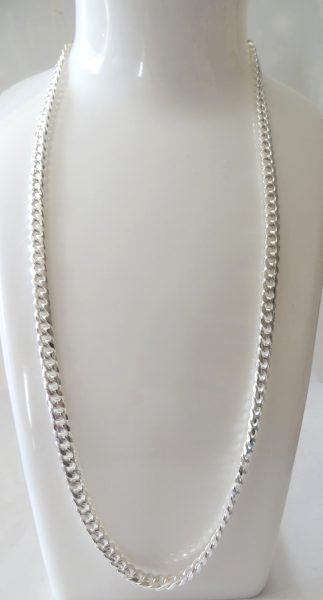 chaine argent maille gourmette