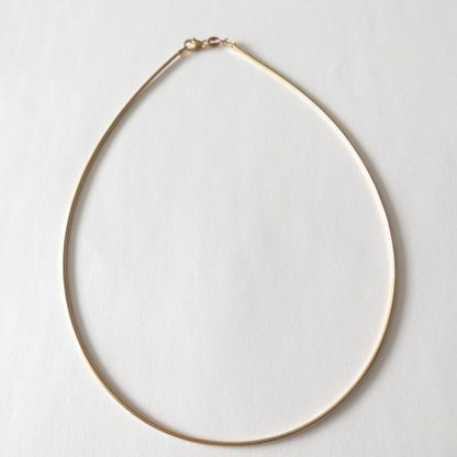 chaine cable plaqué or 40cm
