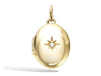 pendentif plaqué or ovale etoile