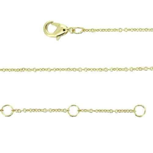 chaine 44cm plaqué or