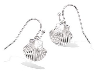 boucle oreille argent coquillage