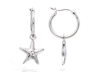 Boucle oreille argent étoile de mer