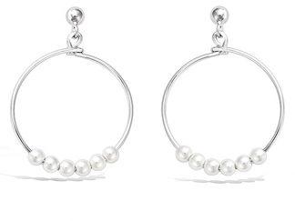 boucle oreille argent créole perles 20