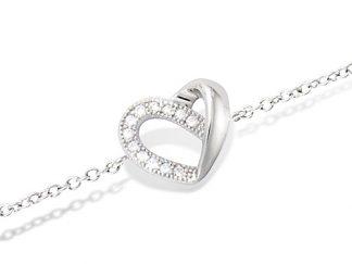 bracelet argent coeur
