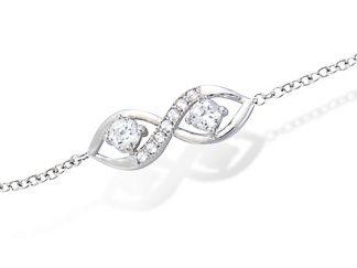 Bracelet argent infini deux oxydes