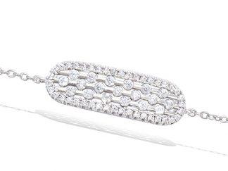 bracelet argent allongée