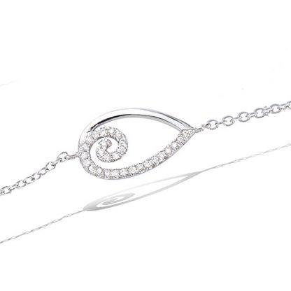 bracelet argent spiral