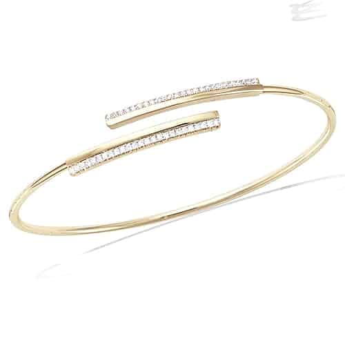 bracelet jonc ouverte pl or