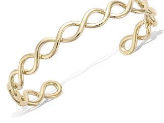 bracelet jonc pl or torsade