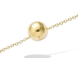 bracelet boule pl or