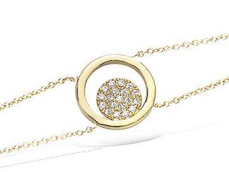 bracelet pl or cercle pastille