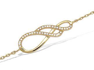 bracelet entremelé pl or