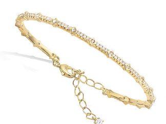 bracelet jonc losange pl or