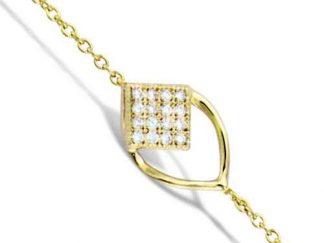 bracelet losange oval pl or