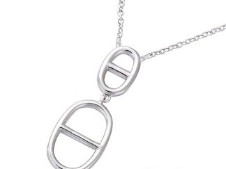 collier argent 2 grains cafe