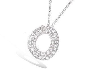 collier argent ronde oxydes blancs