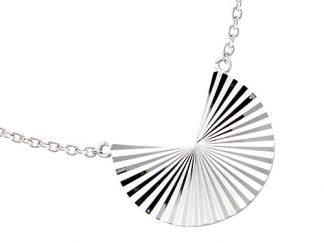 collier argent geometrique diamanté