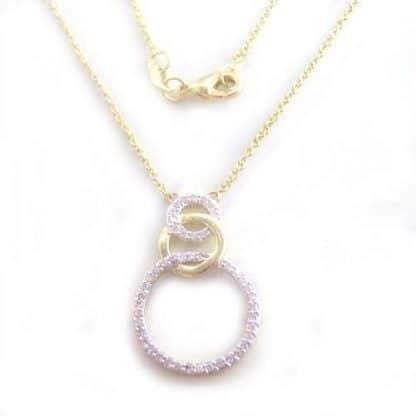 collier plaqué or anneau lisse