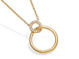 collier plaqué or cercle entrelacé