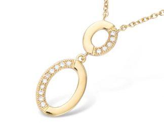 collier plaqué or deux ovales
