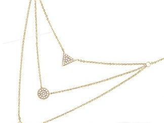 collier plaqué or triple chaine