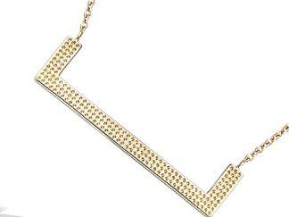 collier plaqué or geometrique pointillée