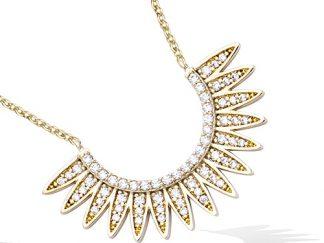 collier plaqué or rayon de soleil