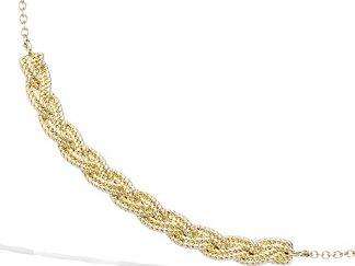 collier plaqué or tresse